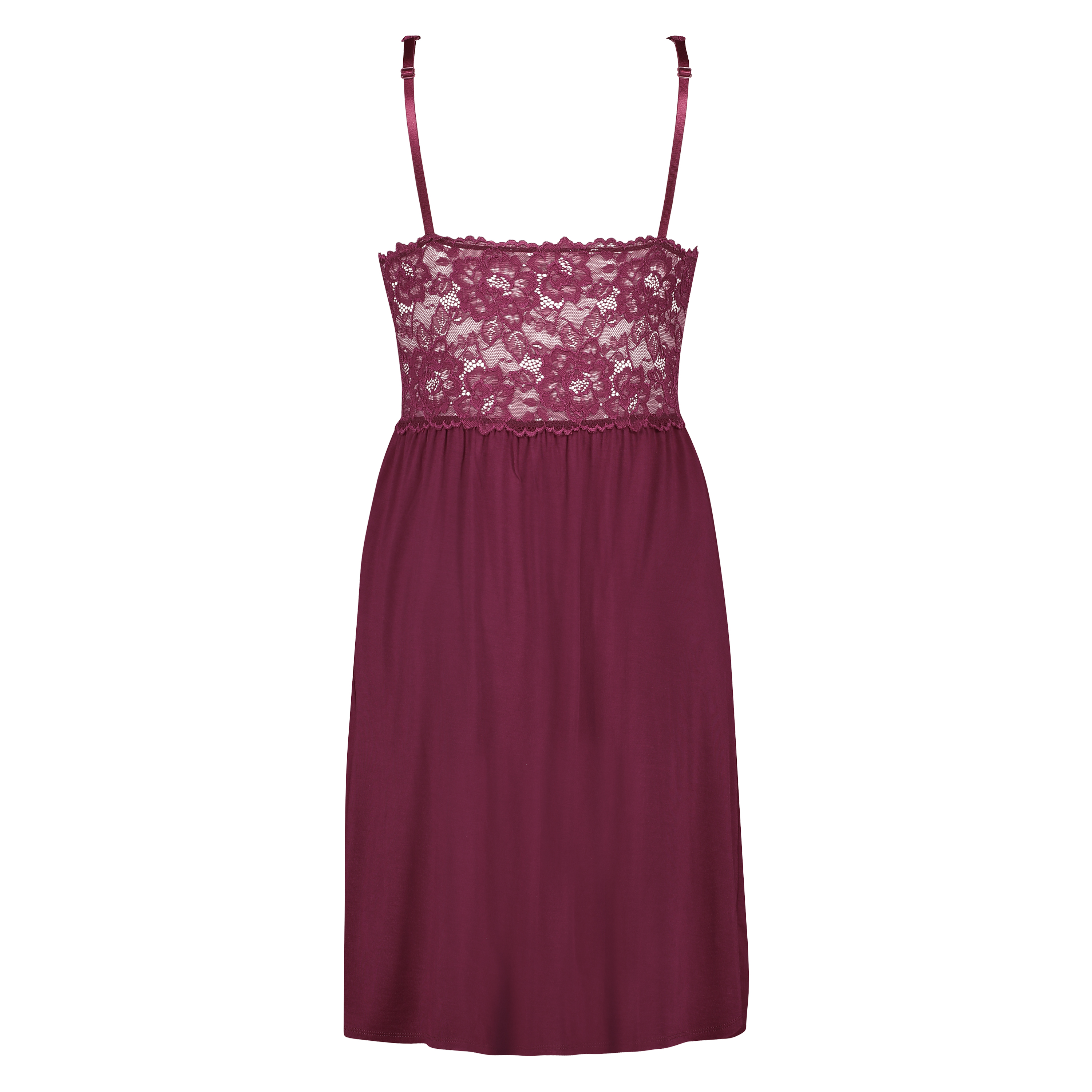 Slipdress Modal lace, Rood, main